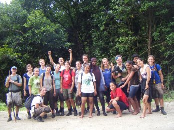 UW undergrads and Kosraean high school students survive the mangrove swamp